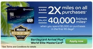 My Barclaycard Arrival World MasterCard Retention Offer